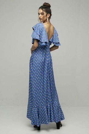 Azulu vestido lavender lunares azul midi 1