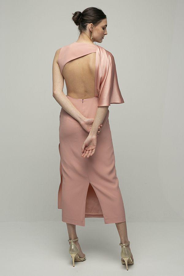 Inunez vestido cutout cintura rosa midi 3
