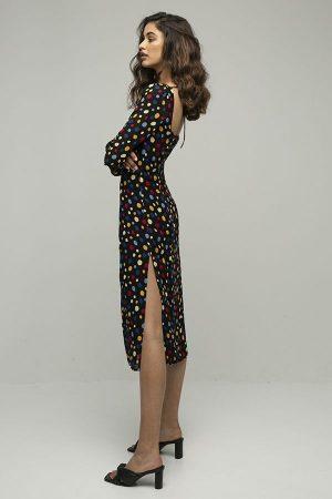 Reformation mabille vestido lunares colores 2